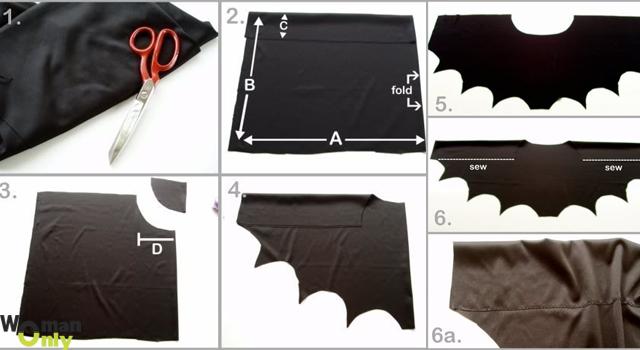 Как сделать  костюм летучей мыши