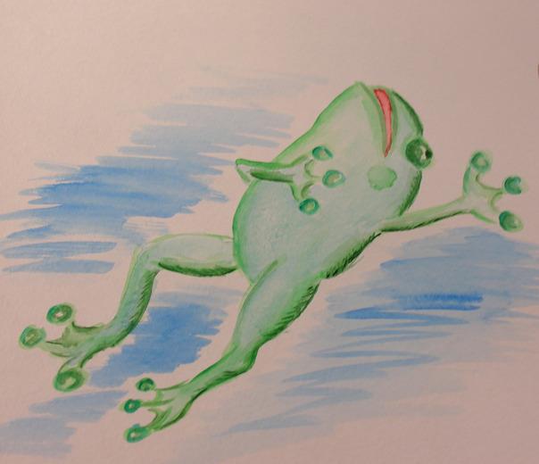 Какого цвета лягушка в обмороке