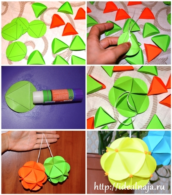 Как сделать из бумаги шар