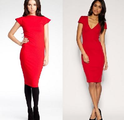 9a1cace54b3 текст при наведении. Красное платье-футляр замечательно ...
