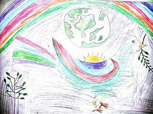 """""""мир"""" рисунок вместе с детьми"""