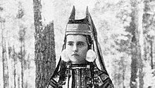 Кичка с рогами; Скопинский уезд Рязанской губернии, 1900-е гг.