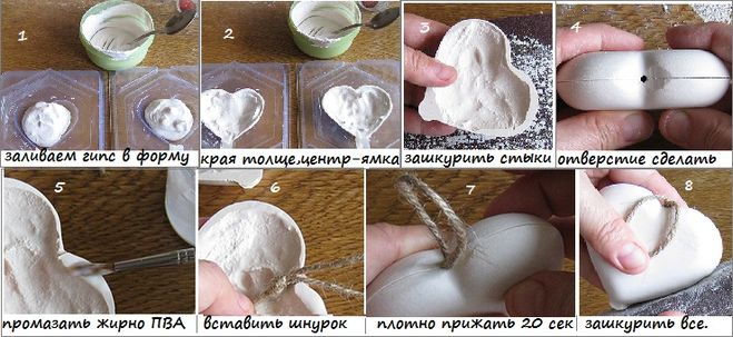 Как сделать молды из гипса