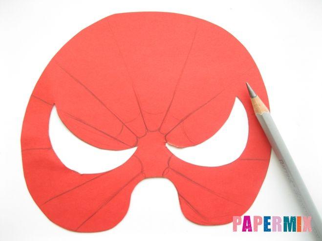 Как сделать маску человек паук из бумаги своими руками