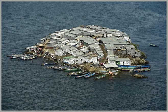 Самый густонаселённый остров в мире