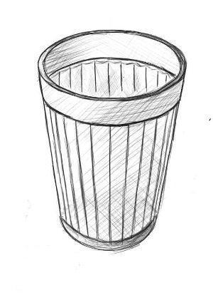 Поэтапное рисование стакана