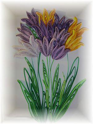 Цветы в вазе сделаны своими руками