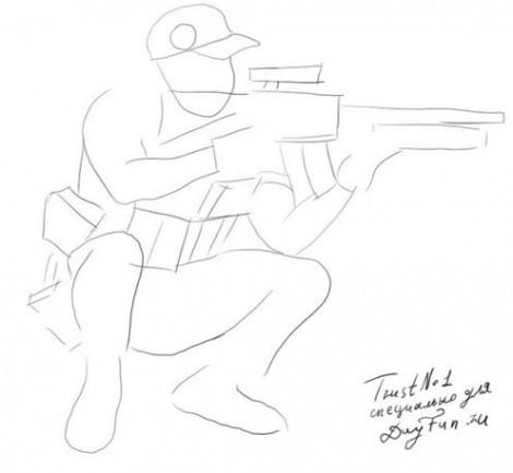 Нарисовать стрелка