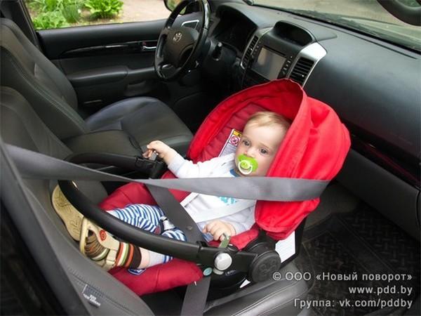 Можно ли ребенка сажать на переднее сидение в кресло 171