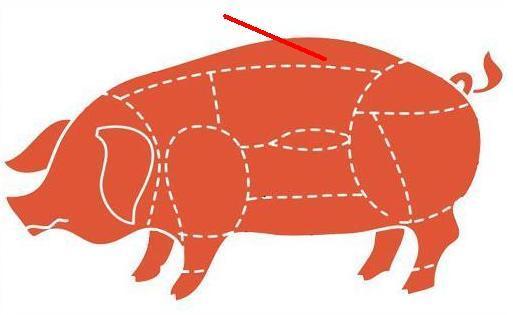 Где на свиной туше находится