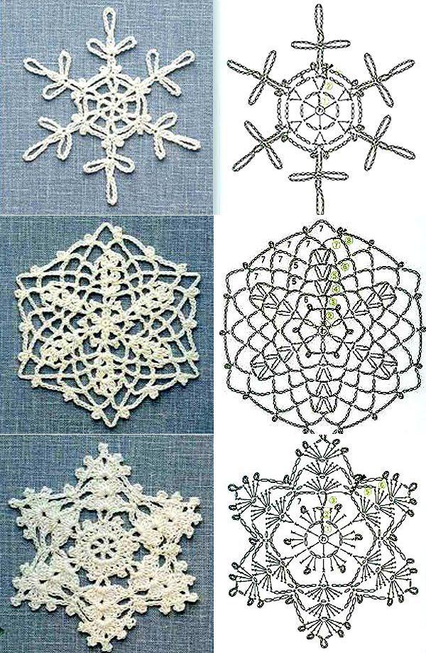 схемы снежинок крючком к Новому году 2019, 100 схем вязания снежинок крючком, самые красивые снежинки крючком своими руками, как связать снежинку крючком, лучшие схемы вязания снежинки крючком