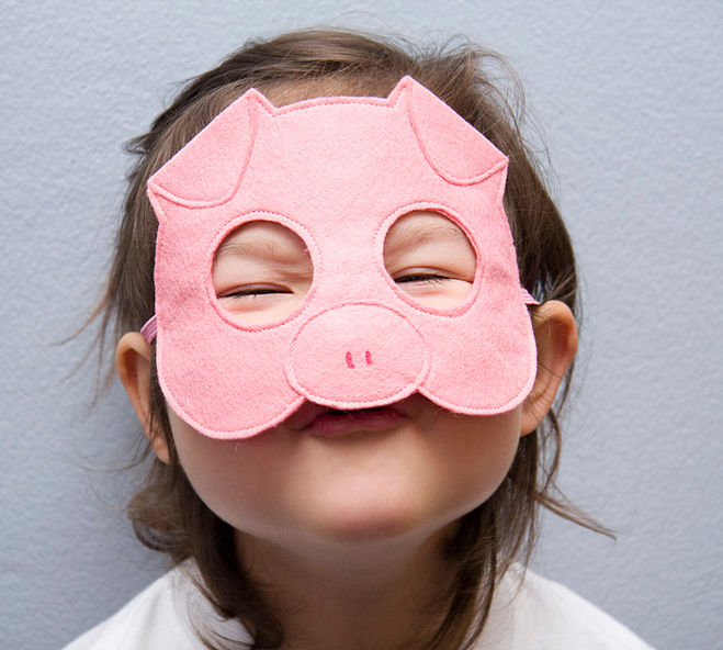 Как сделать маску свиньи своими руками