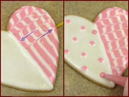 печенье-валентинка с глазурью поэтапно