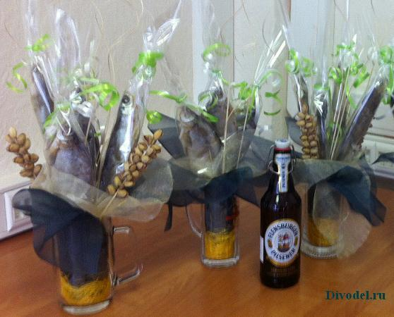 Подарки из пива для мужчин своими руками фото