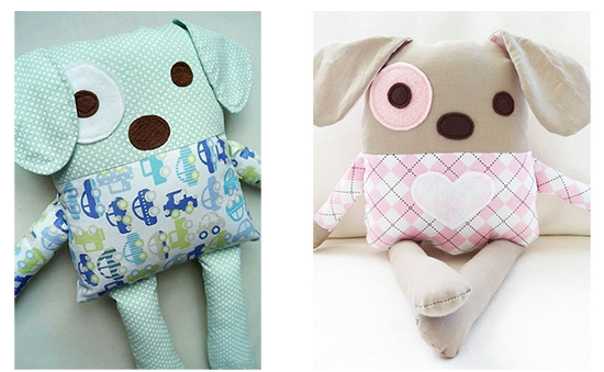 мягкая подушка-собака