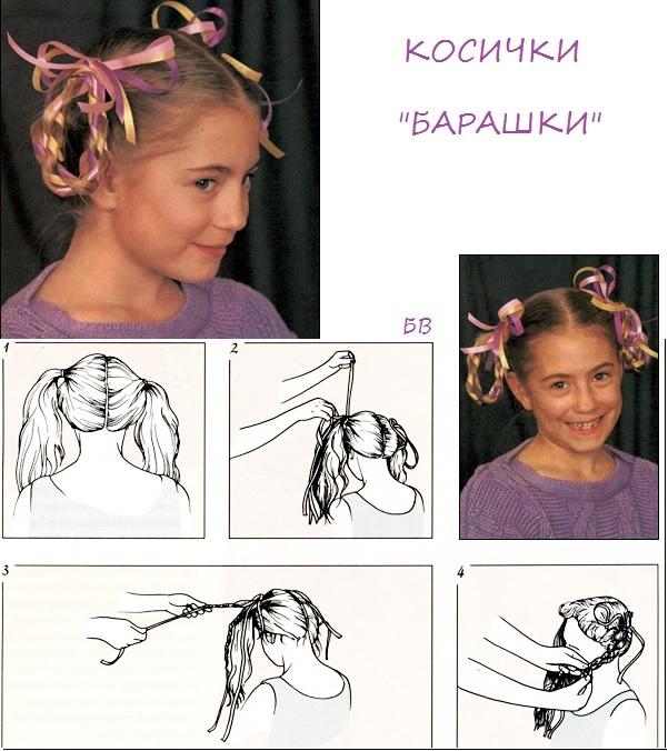 Как сделать барашек из волос 362