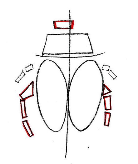 Как нарисовать клещи карандашом поэтапно