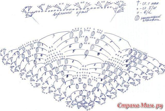 Виноград вязание крючком схема