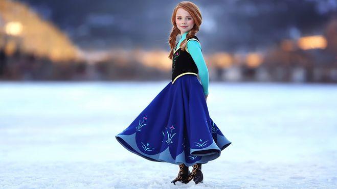 Ледяной костюм Эльзы из «Холодного сердца как сшить 98