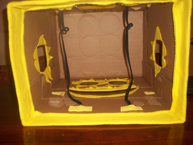 Как сделать спанч боб из коробок