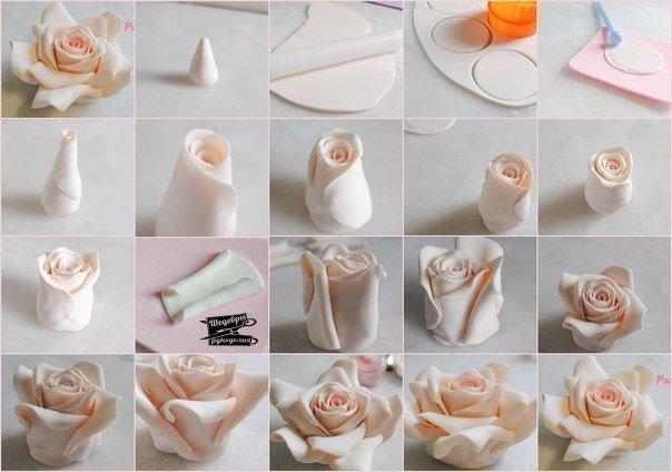 Как сделать цветы из полимерной глины