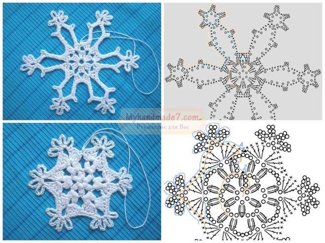 схемы снежинок крючком к Новому году 2019,100 схем вязания снежинок крючком, самые красивые снежинки крючком своими руками, как связать снежинку крючком, лучшие схемы вязания снежинки крючком