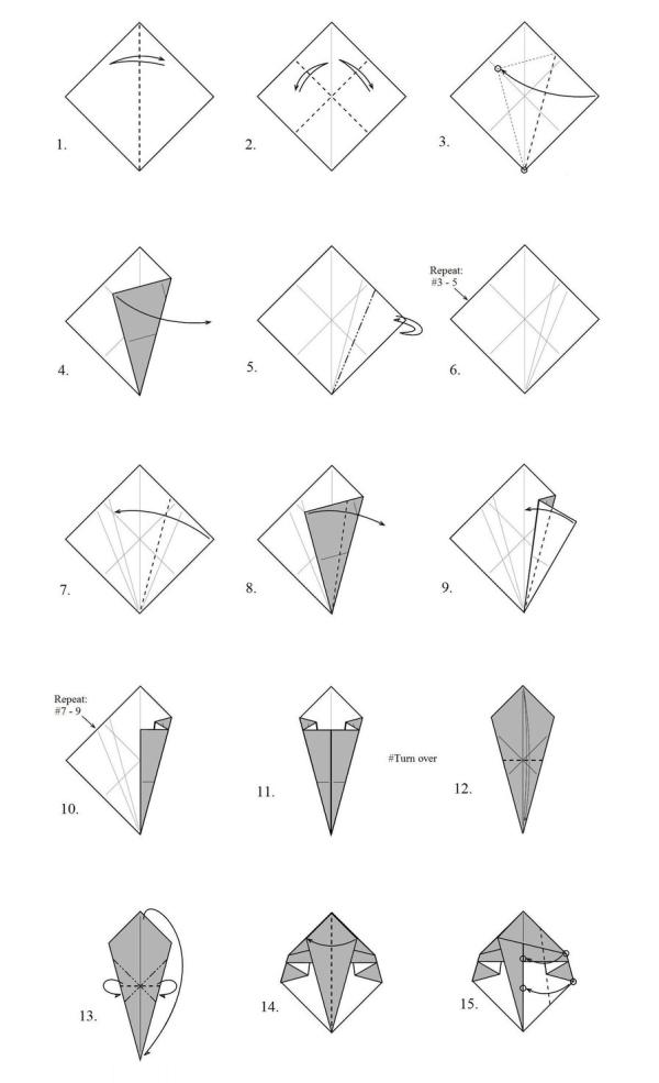Как сделать из бумаги нож схема фото 410