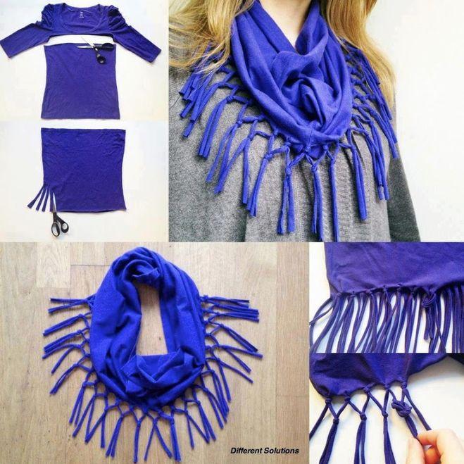 Модные шарф своими руками