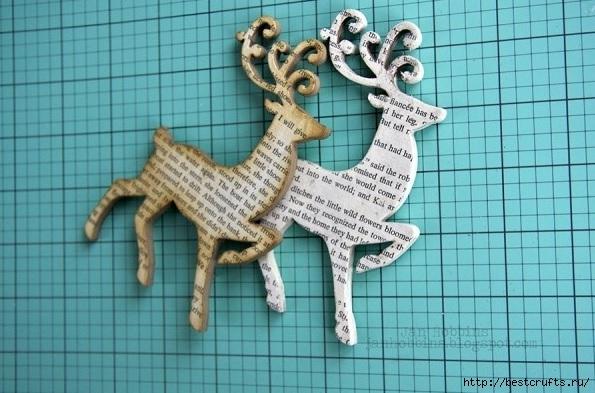 Как сделать оленя из картона для детей