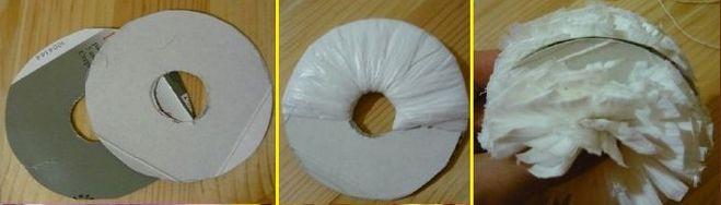 Как сделать помпон из мусорных пакетов 341