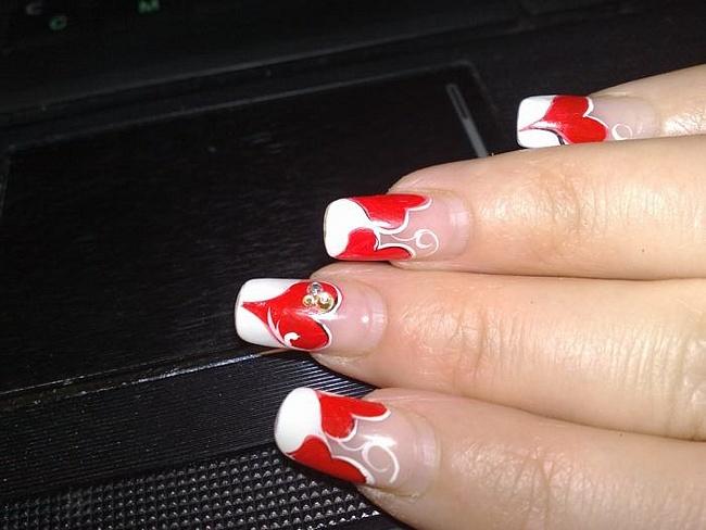Дизайн ногтей к 14 февраля френч