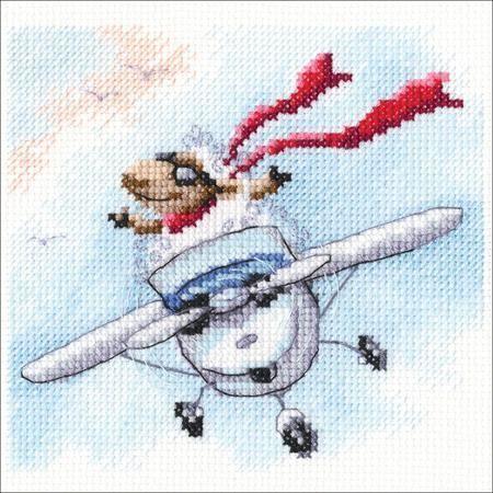 вышивка крестиком самолета своими руками
