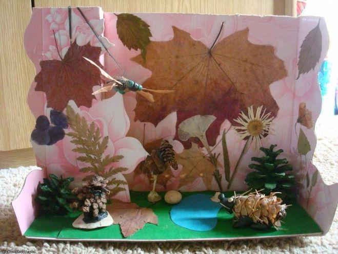 Поделка своими руками из природного материала на тему осень фото - Kuente.ru