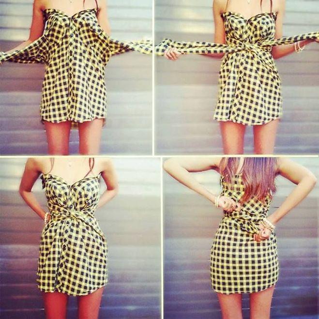 Как из ткани сделать платье без шитья