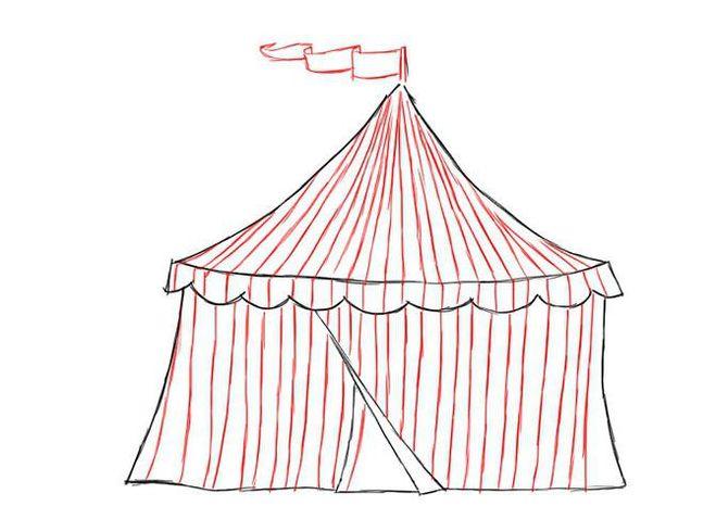 Как нарисовать цирковую арену