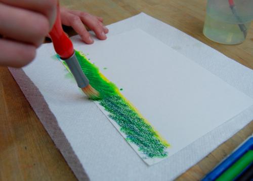 рисуем траву акварелью