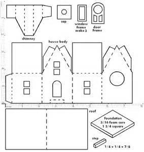 Схема бумажного домика своими рукми