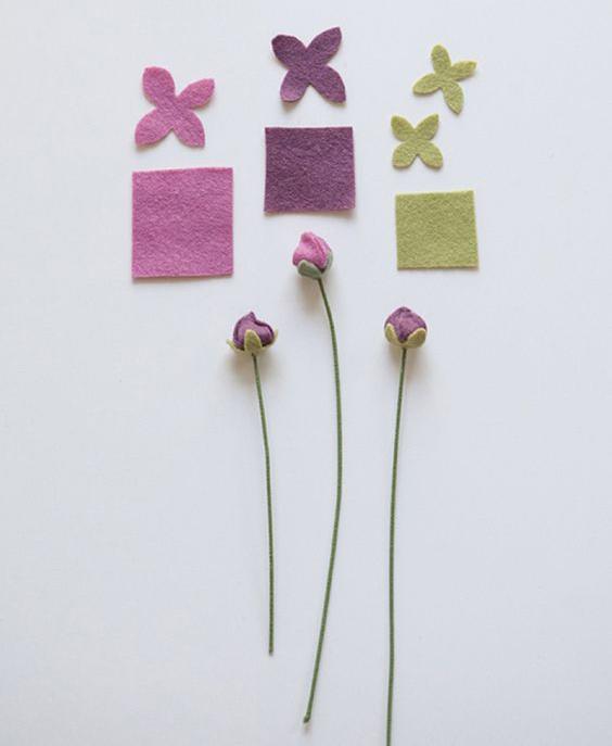 цветы из фетра своими руками лютики мастер-класс