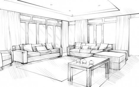 Как нарисовать мебель карандашом поэтапно?