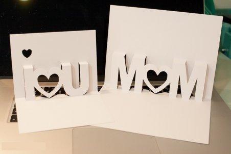 Как сделать объёмную открытку маме на день рождения.
