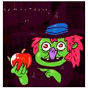 Набор стикеров ВКонтакте бесплатно Имбирная ведьмочка