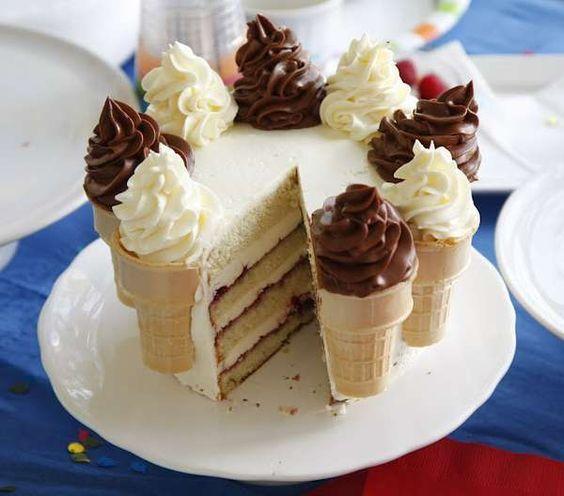 Торт из мороженого своими руками фото