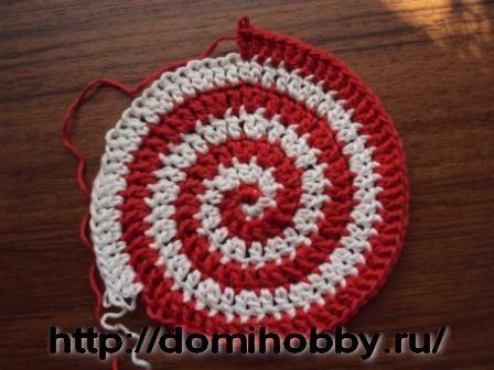 Вязание крючком по кругу разными цветами 84