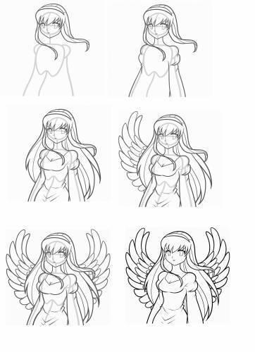 Вот девушка- ангел, посмотрите