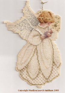 Схема вышивания ангела крестиком