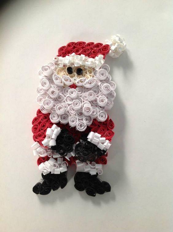 поделки с Дедом Морозом из бумаги своими руками квиллинг