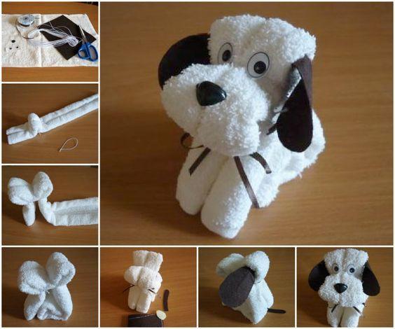 собака из полотенца как сделать мастер класс схема