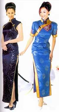 Женские китайские платья ципао