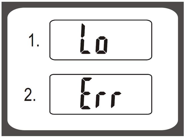 Что означает надпись Lo на табло на весах tefal pp 1110?