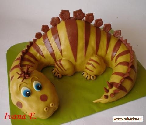 динозаврик из мастики